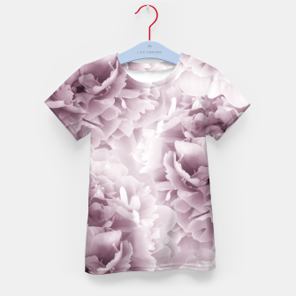 Mauve Peonies Dream #1 #floral #decor #art T-Shirt für kinder Bild der Miniatur