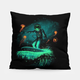 Miniatur Surfing Astronaut Pillow, Live Heroes