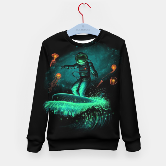 Thumbnail image of Surfing Astronaut Kid's sweater, Live Heroes