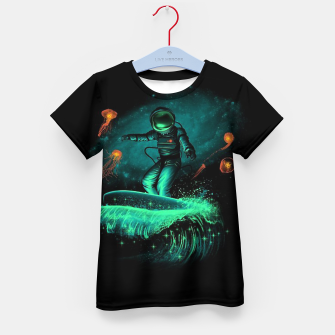 Thumbnail image of Surfing Astronaut Kid's t-shirt, Live Heroes