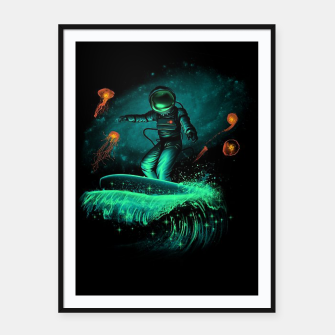 Thumbnail image of Surfing Astronaut Framed poster, Live Heroes