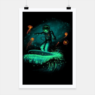 Thumbnail image of Surfing Astronaut Poster, Live Heroes