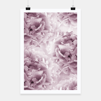 Mauve Peonies Dream #1 #floral #decor #art Plakat obraz miniatury