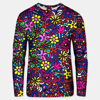 Miniatur Flower Power Art Unisex sweater, Live Heroes