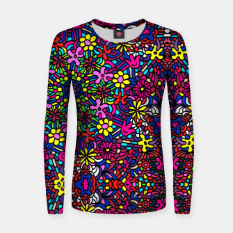 Miniatur Flower Power Art Women sweater, Live Heroes