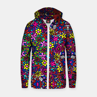 Miniatur Flower Power Art Zip up hoodie, Live Heroes
