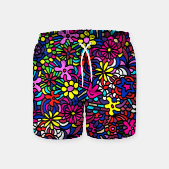 Miniatur Flower Power Art Swim Shorts, Live Heroes