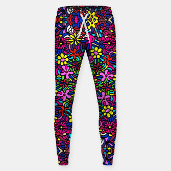 Miniatur Flower Power Art Sweatpants, Live Heroes