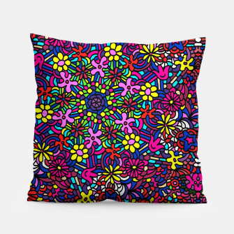 Miniatur Flower Power Art Pillow, Live Heroes