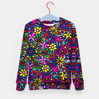 Miniatur Flower Power Art Kid's sweater, Live Heroes