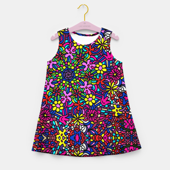 Miniatur Flower Power Art Girl's summer dress, Live Heroes