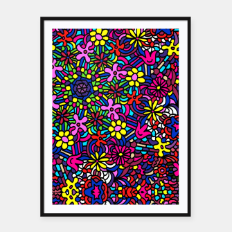 Miniatur Flower Power Art Framed poster, Live Heroes