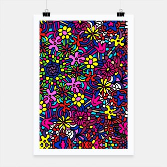 Thumbnail image of Flower Power Art Poster, Live Heroes