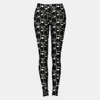 Imagen en miniatura de  Smiling Side Faces Illustration Leggings, Live Heroes