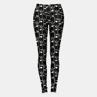 Thumbnail image of  Smiling Side Faces Illustration Leggings, Live Heroes