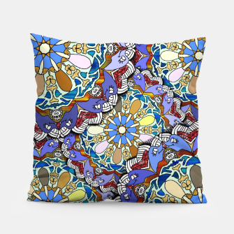 Thumbnail image of Mandala Style Art Layers   Pillow, Live Heroes