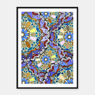 Thumbnail image of Mandala Style Art Layers   Framed poster, Live Heroes