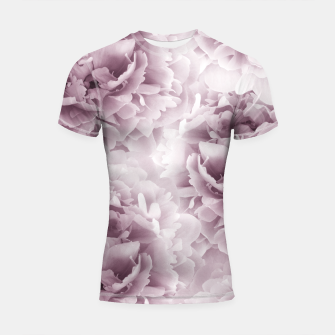 Mauve Peonies Dream #1 #floral #decor #art Shortsleeve rashguard obraz miniatury