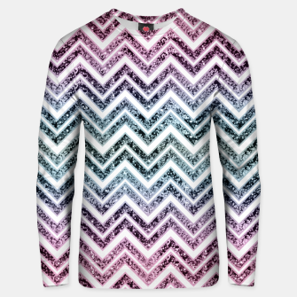 Thumbnail image of Unicorn Princess Glitter Glam Chevron #1 #shiny #pastel #decor #art  Unisex sweatshirt, Live Heroes