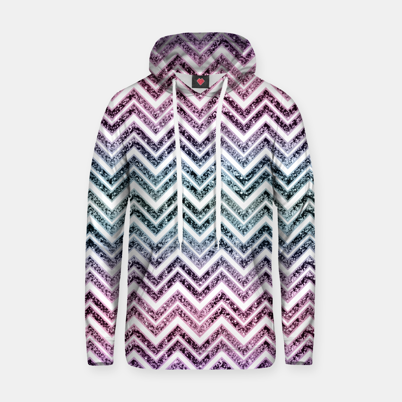Foto Unicorn Princess Glitter Glam Chevron #1 #shiny #pastel #decor #art  Kapuzenpullover - Live Heroes