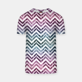 Unicorn Princess Glitter Glam Chevron #1 #shiny #pastel #decor #art  T-Shirt obraz miniatury