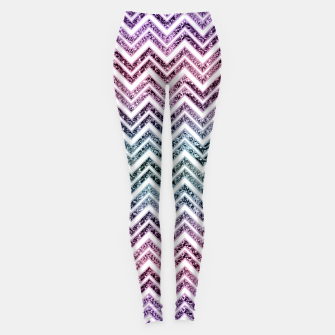 Miniaturka Unicorn Princess Glitter Glam Chevron #1 #shiny #pastel #decor #art  Leggings, Live Heroes