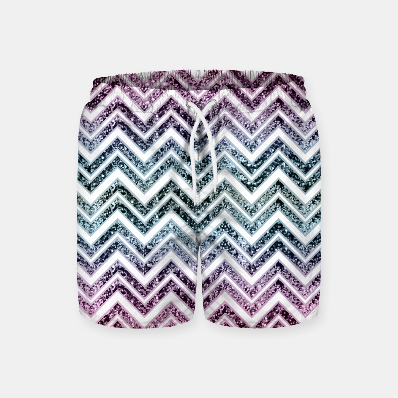 Foto Unicorn Princess Glitter Glam Chevron #1 #shiny #pastel #decor #art  Badeshorts - Live Heroes