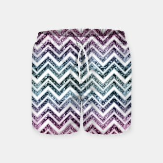 Thumbnail image of Unicorn Princess Glitter Glam Chevron #1 #shiny #pastel #decor #art  Badeshorts, Live Heroes