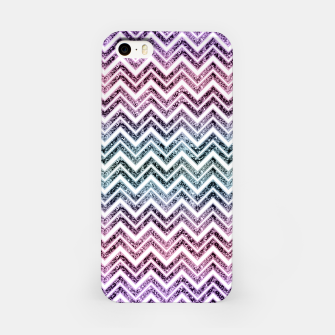 Miniature de image de Unicorn Princess Glitter Glam Chevron #1 #shiny #pastel #decor #art  iPhone-Hülle, Live Heroes