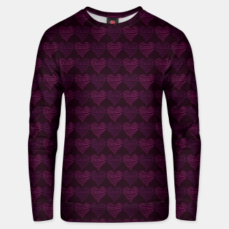 Thumbnail image of Squiggly Heart Pattern Purple Pink Unisex sweater, Live Heroes