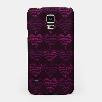 Thumbnail image of Squiggly Heart Pattern Purple Pink Samsung Case, Live Heroes