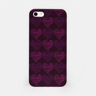 Thumbnail image of Squiggly Heart Pattern Purple Pink iPhone Case, Live Heroes