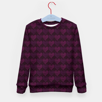 Thumbnail image of Squiggly Heart Pattern Purple Pink Kid's sweater, Live Heroes
