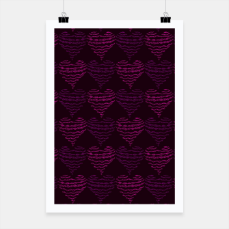 Thumbnail image of Squiggly Heart Pattern Purple Pink Poster, Live Heroes