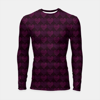 Thumbnail image of Squiggly Heart Pattern Purple Pink Longsleeve rashguard , Live Heroes