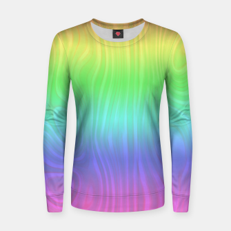 Thumbnail image of Groovy Pastel Rainbow Women sweater, Live Heroes
