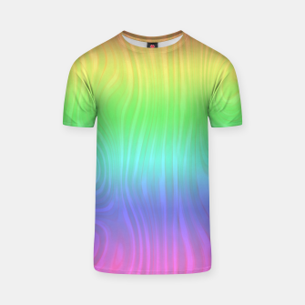 Thumbnail image of Groovy Pastel Rainbow T-shirt, Live Heroes
