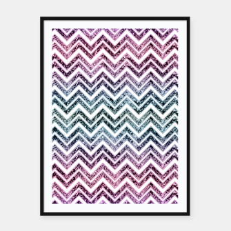 Unicorn Princess Glitter Glam Chevron #1 #shiny #pastel #decor #art  Plakat mit rahmen obraz miniatury