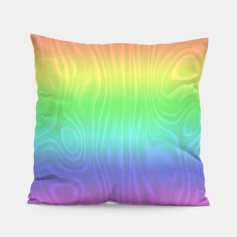 Thumbnail image of Groovy Pastel Rainbow Pillow, Live Heroes