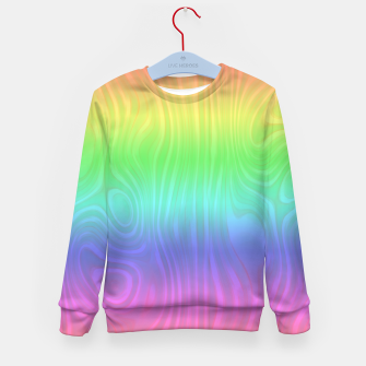 Thumbnail image of Groovy Pastel Rainbow Kid's sweater, Live Heroes