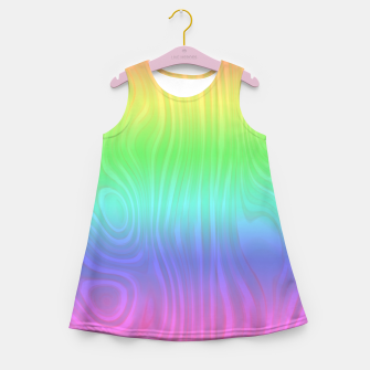 Thumbnail image of Groovy Pastel Rainbow Girl's summer dress, Live Heroes
