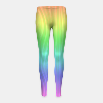 Thumbnail image of Groovy Pastel Rainbow Girl's leggings, Live Heroes