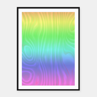 Thumbnail image of Groovy Pastel Rainbow Framed poster, Live Heroes