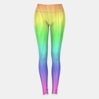 Thumbnail image of Groovy Pastel Rainbow Leggings, Live Heroes