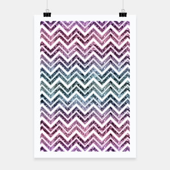 Unicorn Princess Glitter Glam Chevron #1 #shiny #pastel #decor #art  Plakat obraz miniatury