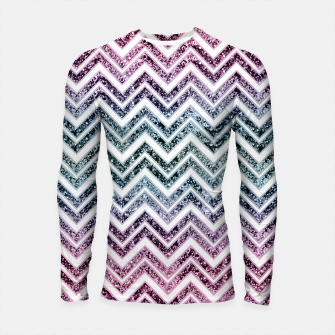 Thumbnail image of Unicorn Princess Glitter Glam Chevron #1 #shiny #pastel #decor #art  Longsleeve rashguard, Live Heroes