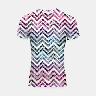Thumbnail image of Unicorn Princess Glitter Glam Chevron #1 #shiny #pastel #decor #art  Shortsleeve rashguard, Live Heroes