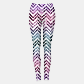 Unicorn Princess Glitter Glam Chevron #1 #shiny #pastel #decor #art  Leggings obraz miniatury
