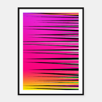 Thumbnail image of Rainbow Spikes Framed poster, Live Heroes