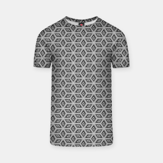Thumbnail image of Silver and Black Diamond Cubes Pattern T-shirt, Live Heroes